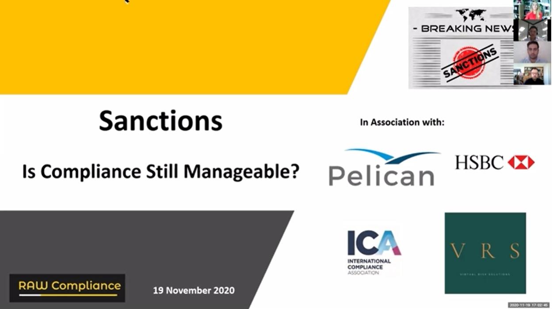 Sanctions - Is Complaince Still Manageab,e